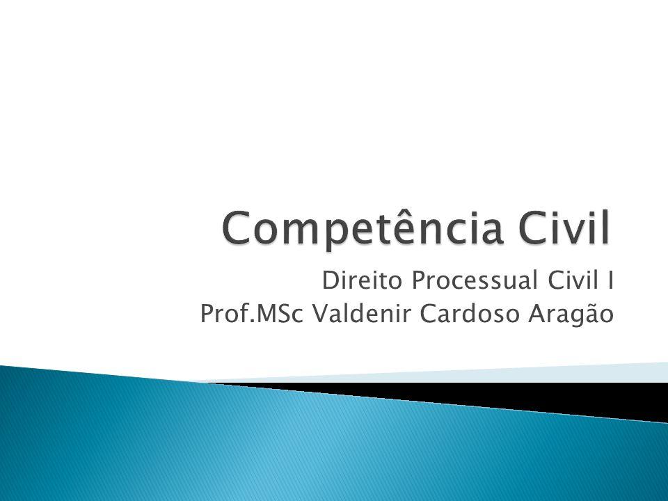 Direito Processual Civil I Prof.MSc Valdenir Cardoso Aragão
