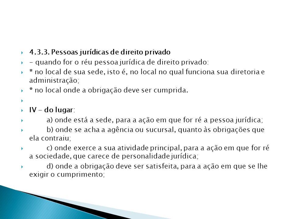 4.3.3. Pessoas jurídicas de direito privado