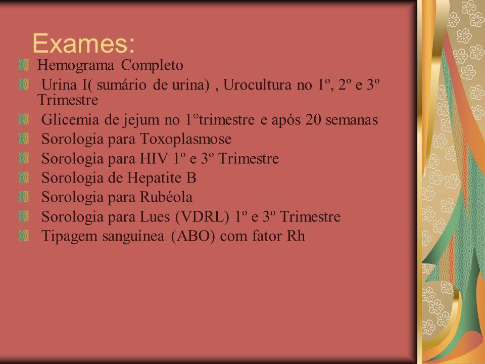 Exames: Hemograma Completo