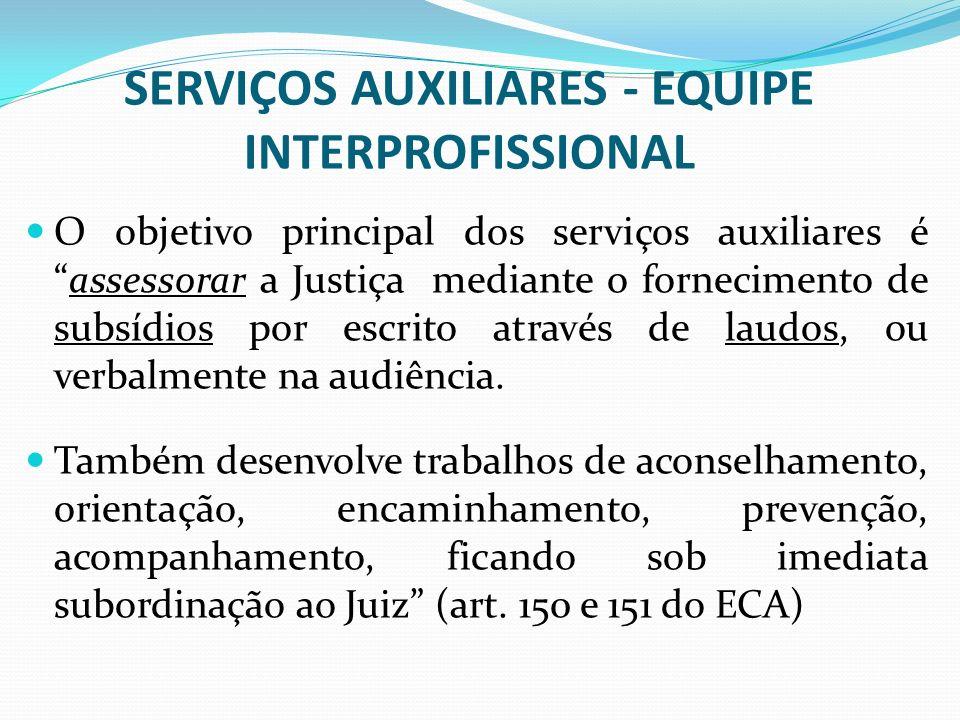 SERVIÇOS AUXILIARES - EQUIPE INTERPROFISSIONAL