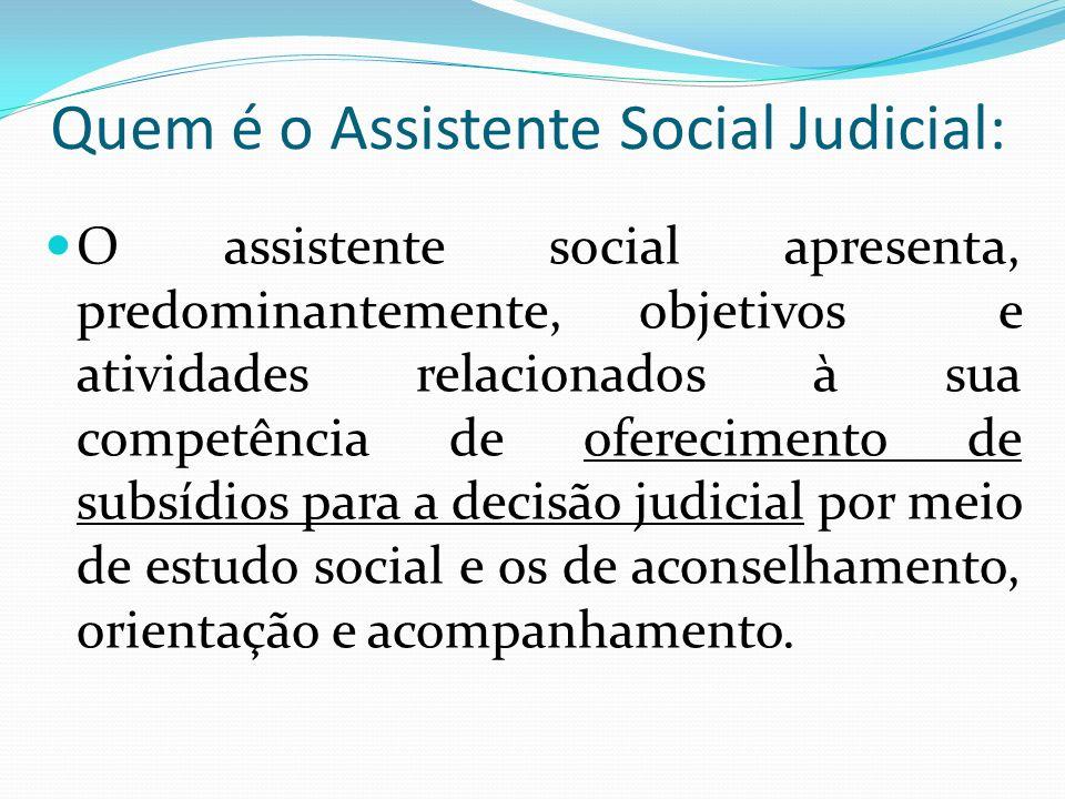 Quem é o Assistente Social Judicial: