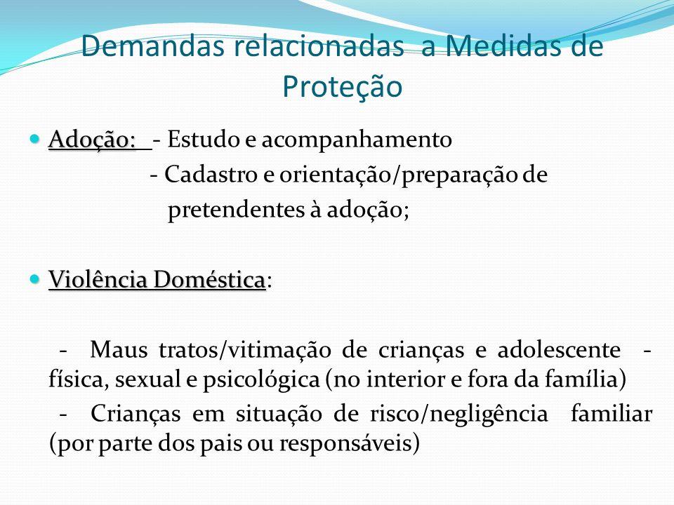 Demandas relacionadas a Medidas de Proteção