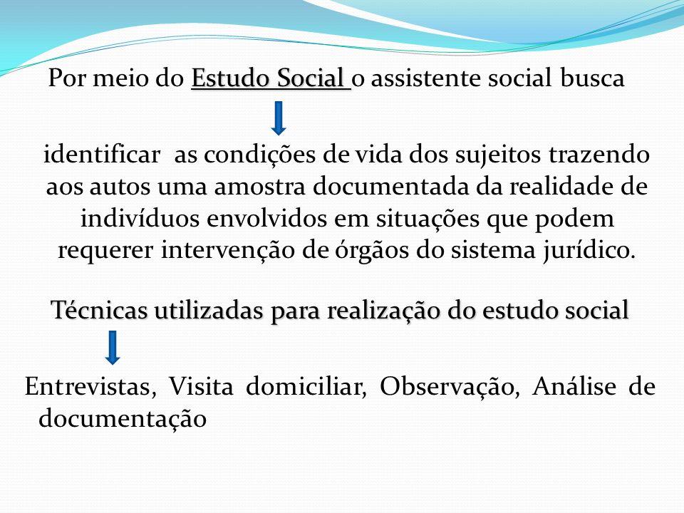 Por meio do Estudo Social o assistente social busca