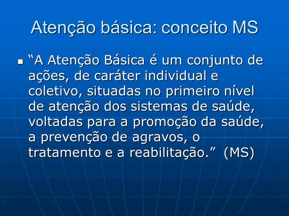 Atenção básica: conceito MS