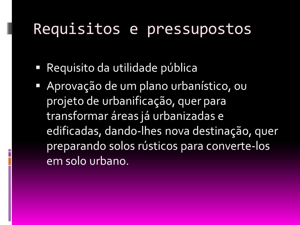 Requisitos e pressupostos