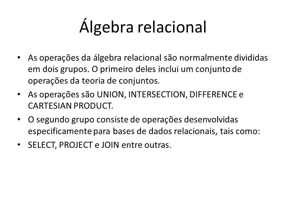 Álgebra relacional