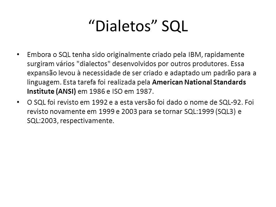 Dialetos SQL
