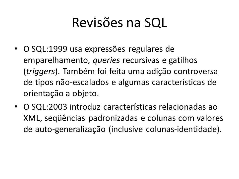 Revisões na SQL