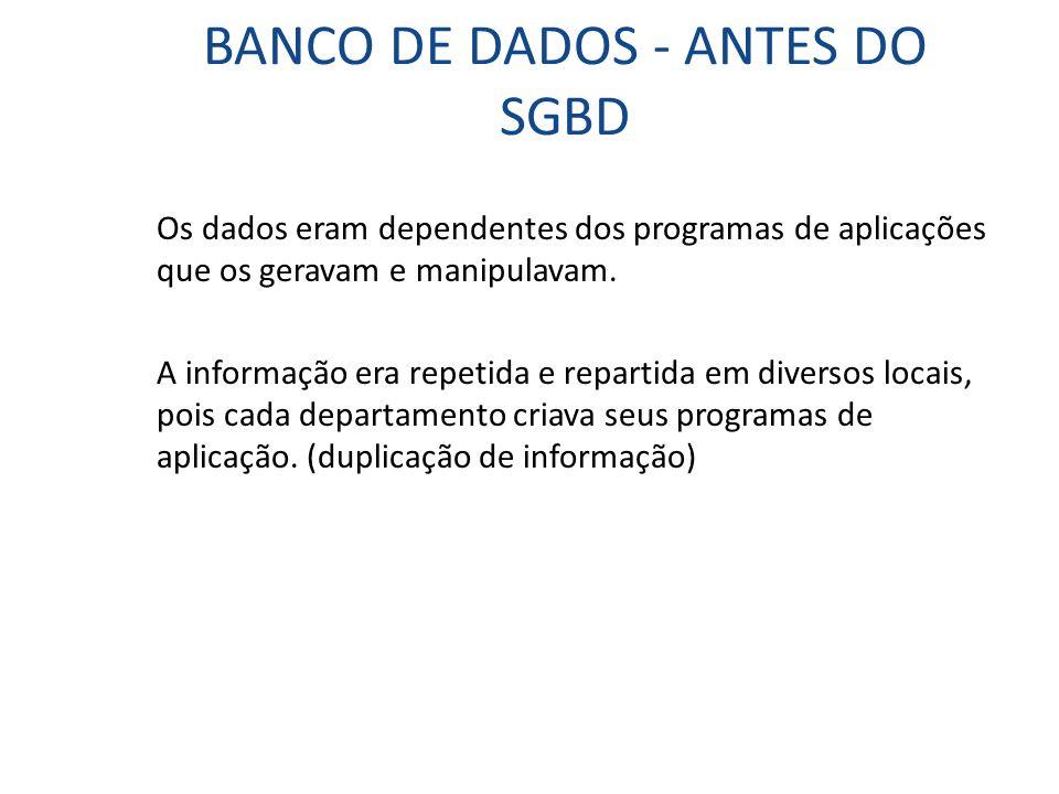 BANCO DE DADOS - ANTES DO SGBD