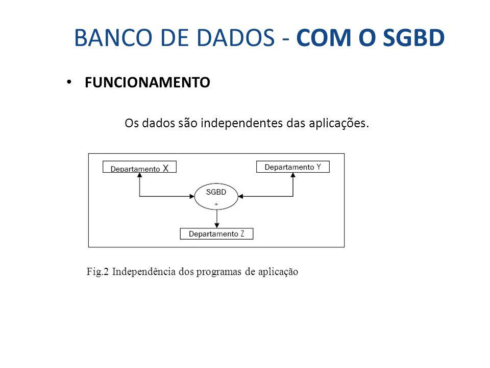 BANCO DE DADOS - COM O SGBD