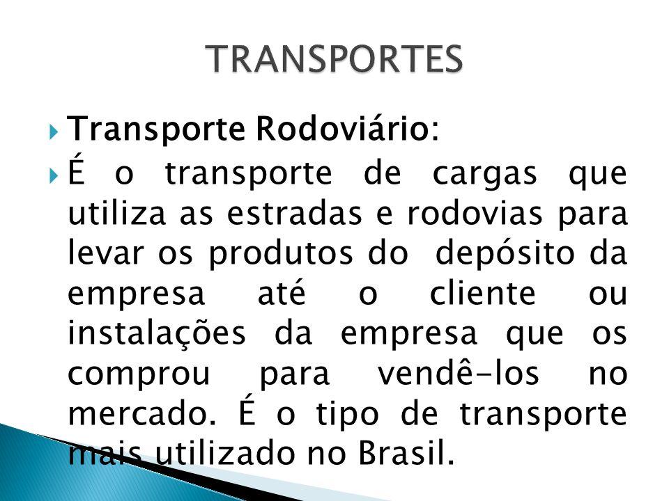 TRANSPORTES Transporte Rodoviário: