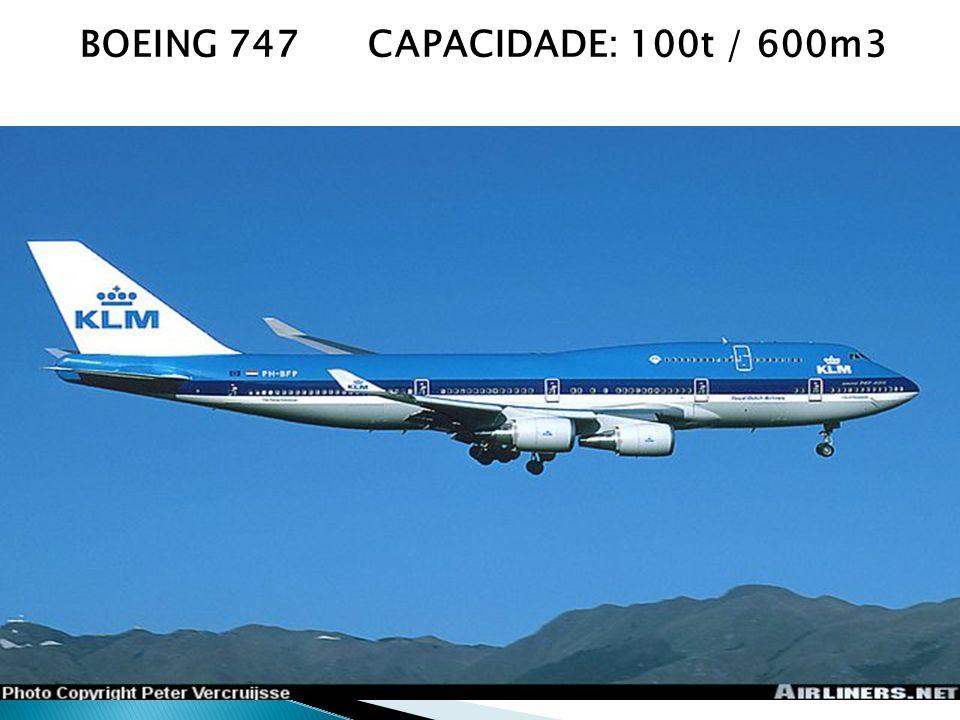 BOEING 747 CAPACIDADE: 100t / 600m3