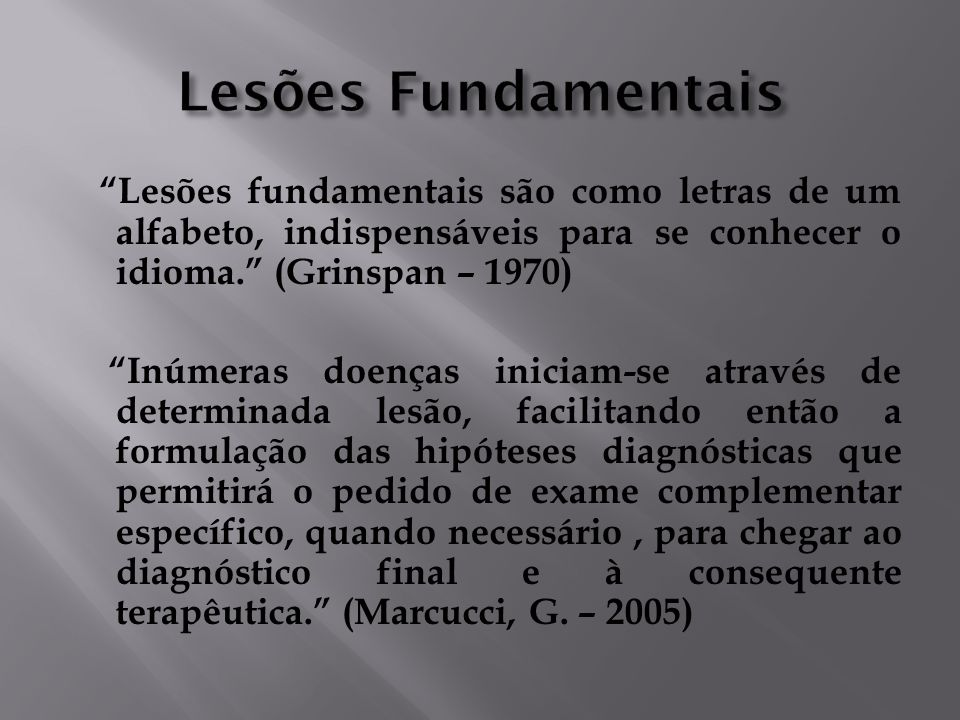 Lesões Fundamentais