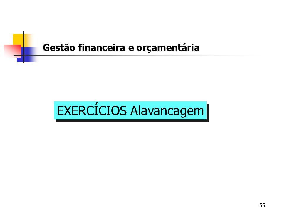 EXERCÍCIOS Alavancagem