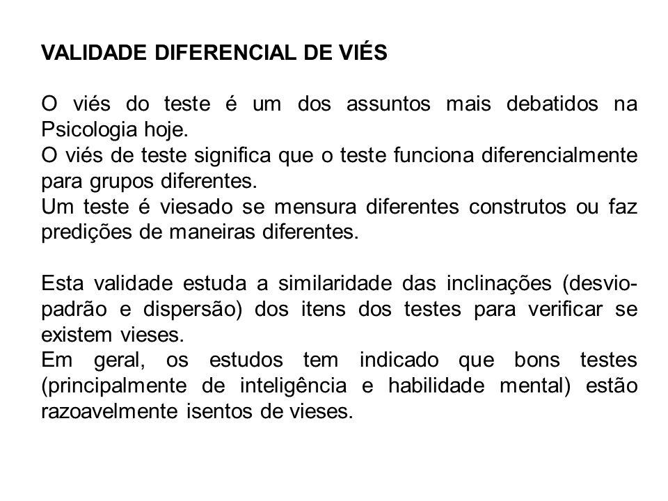 VALIDADE DIFERENCIAL DE VIÉS