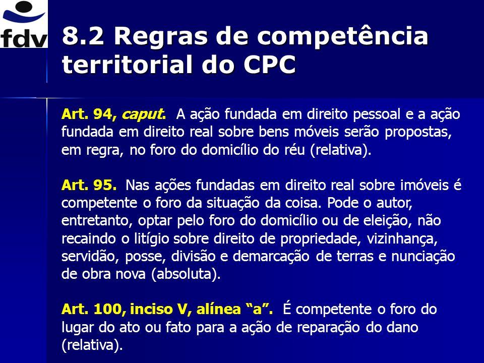 8.2 Regras de competência territorial do CPC