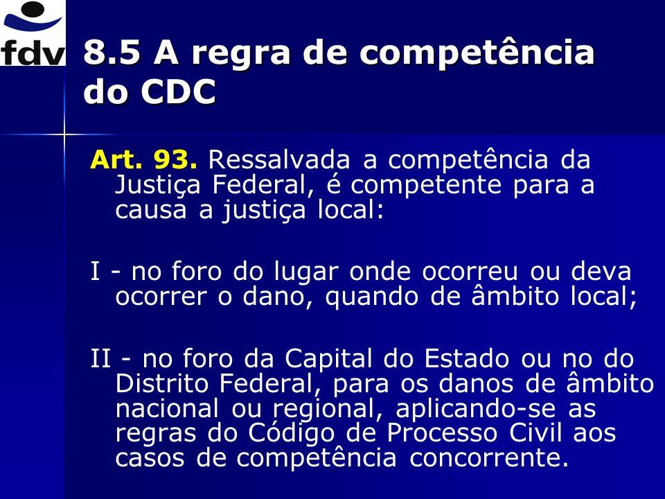 8.5 A regra de competência do CDC
