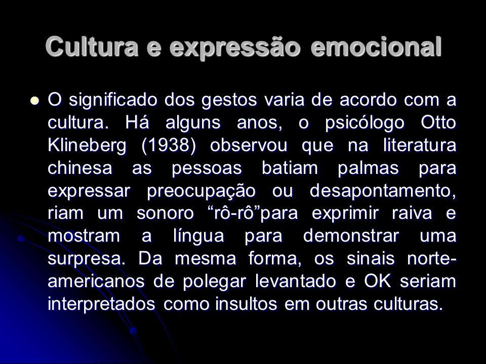 Cultura e expressão emocional