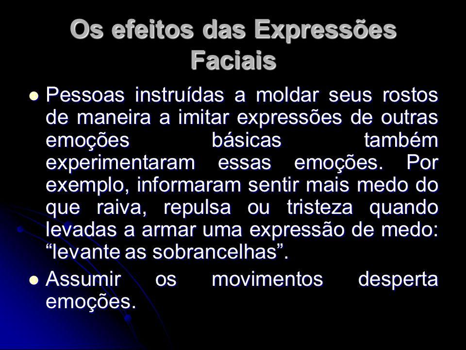 Os efeitos das Expressões Faciais
