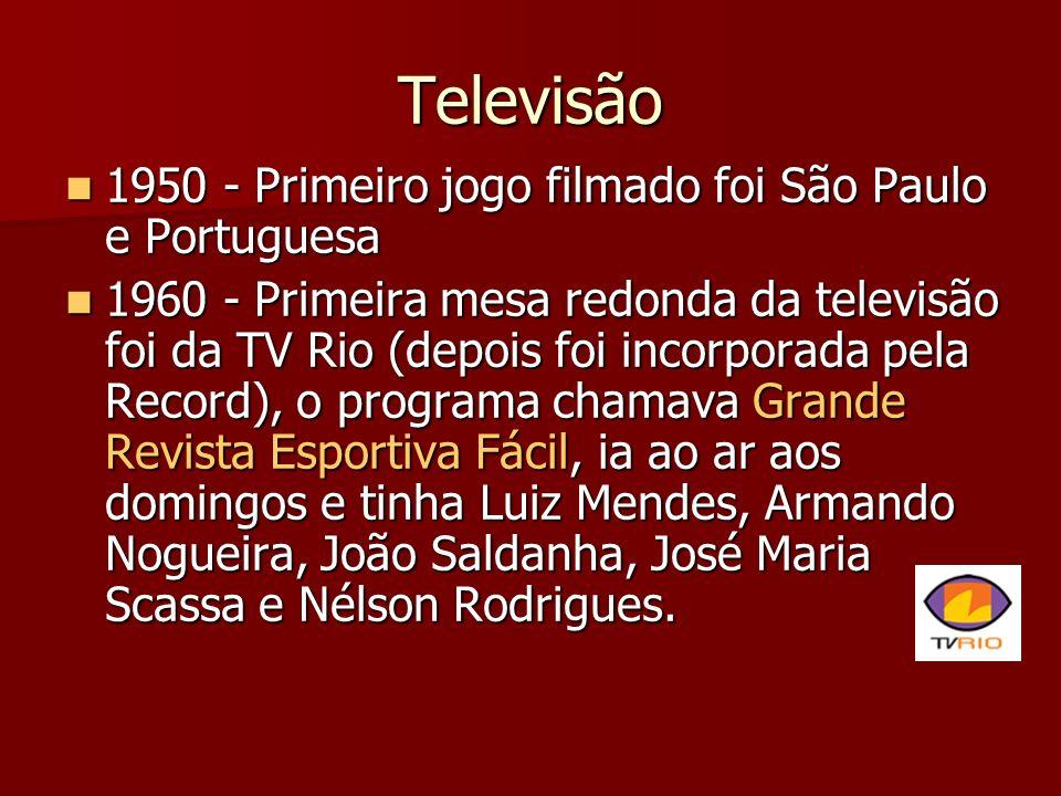 Televisão 1950 - Primeiro jogo filmado foi São Paulo e Portuguesa