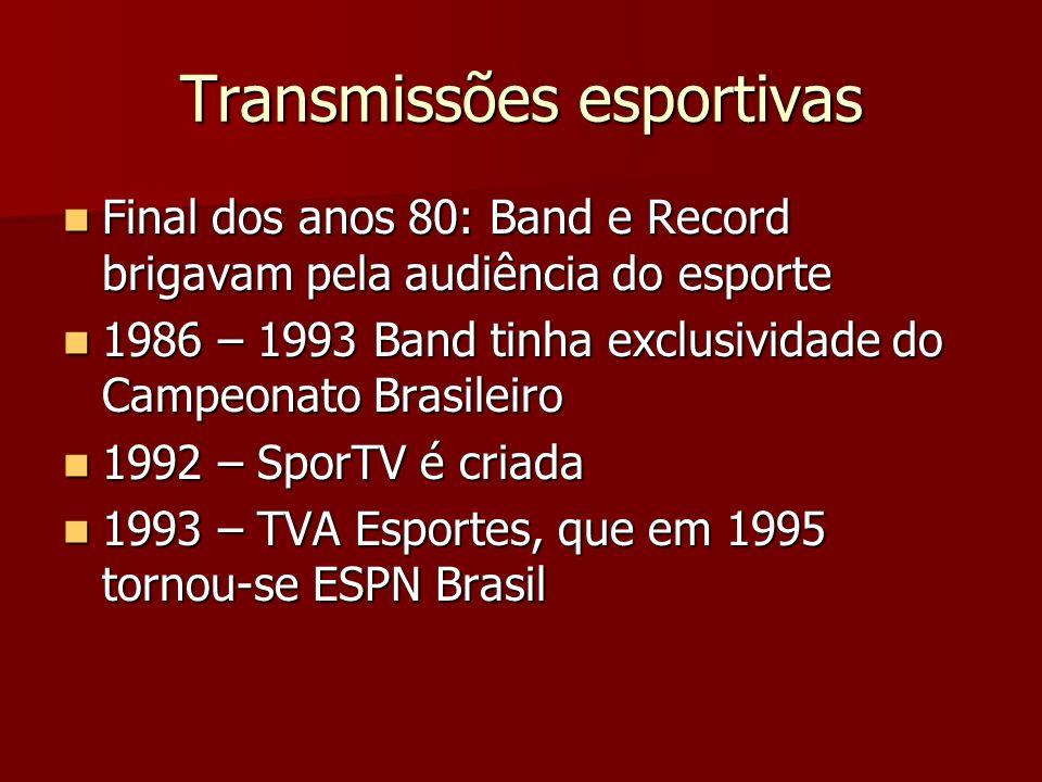 Transmissões esportivas
