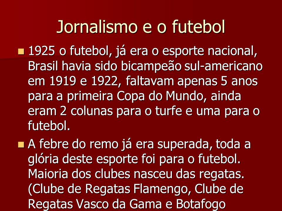 Jornalismo e o futebol