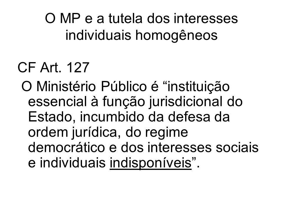 O MP e a tutela dos interesses individuais homogêneos