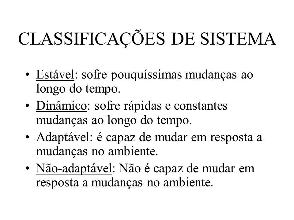 CLASSIFICAÇÕES DE SISTEMA