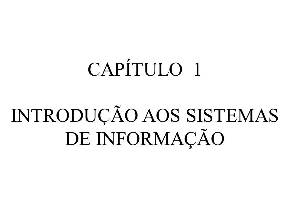 INTRODUÇÃO AOS SISTEMAS DE INFORMAÇÃO