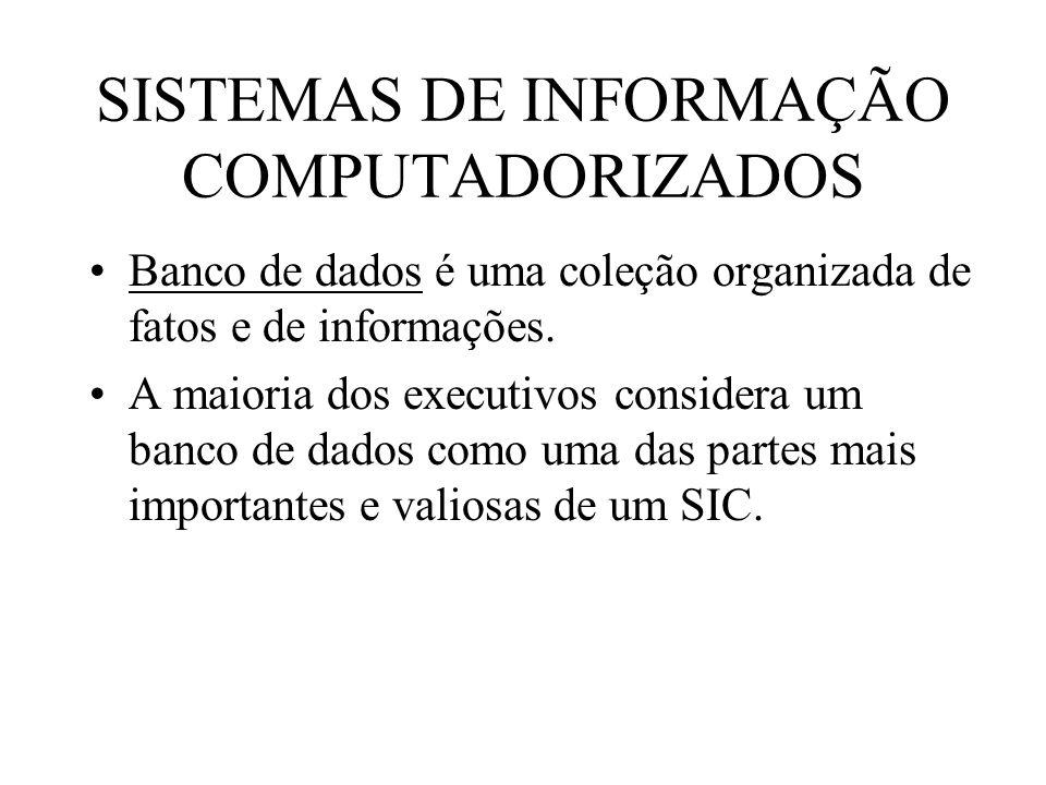 SISTEMAS DE INFORMAÇÃO COMPUTADORIZADOS