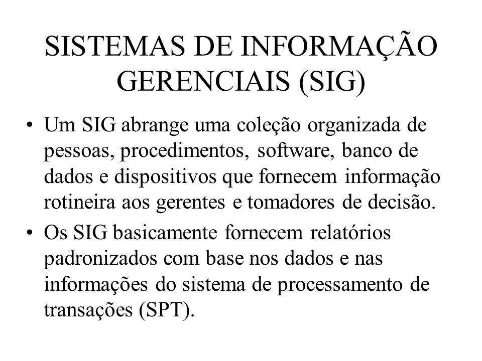 SISTEMAS DE INFORMAÇÃO GERENCIAIS (SIG)