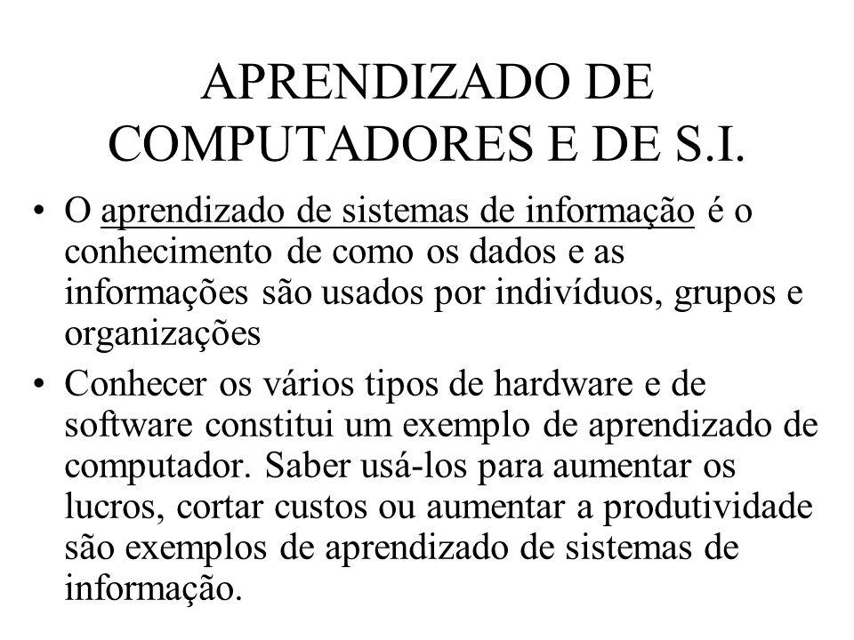 APRENDIZADO DE COMPUTADORES E DE S.I.