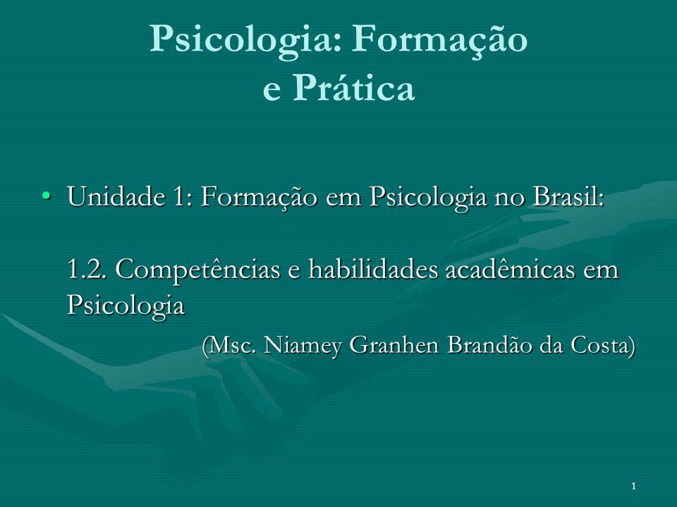 Psicologia: Formação e Prática