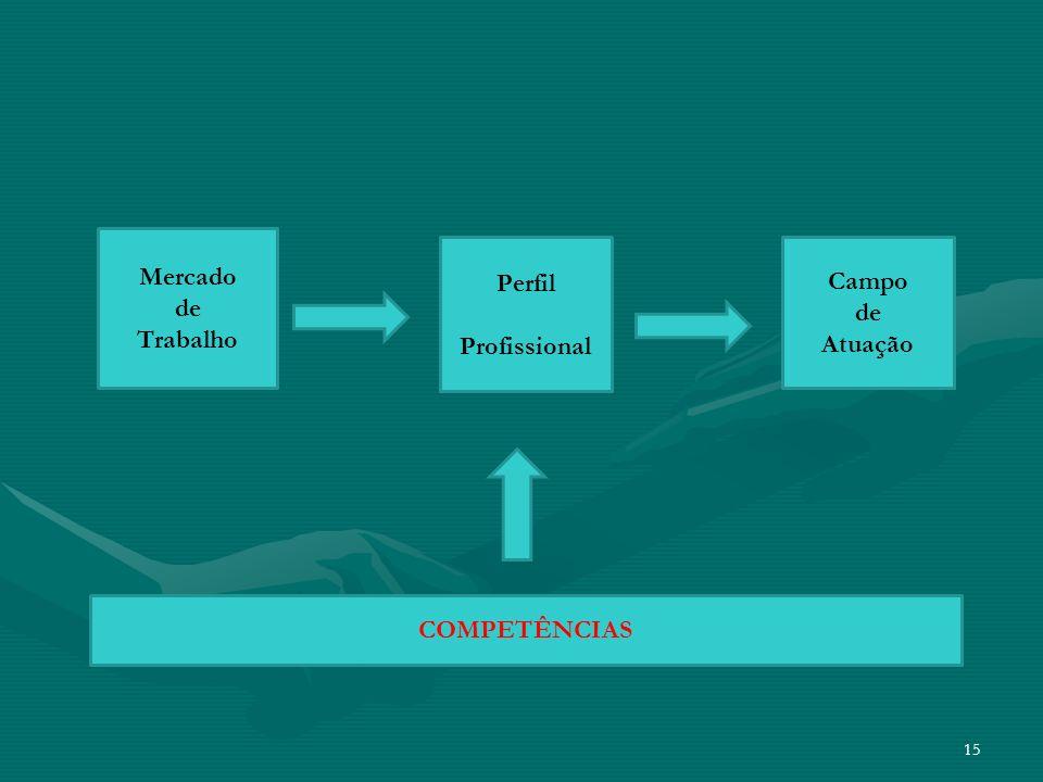 Mercado de Trabalho Perfil Profissional Campo de Atuação COMPETÊNCIAS
