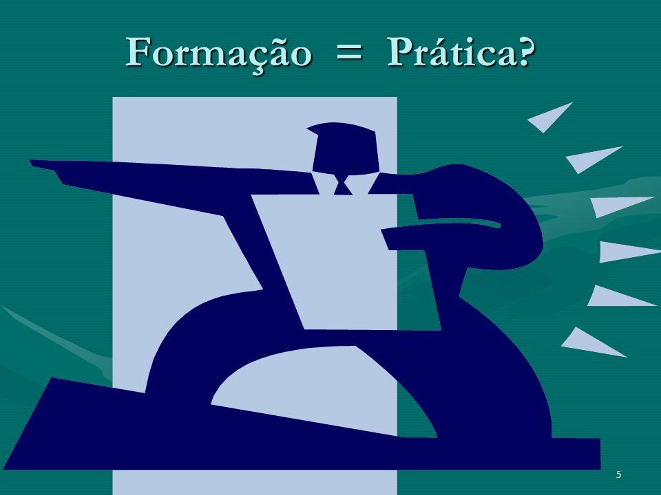 Formação = Prática