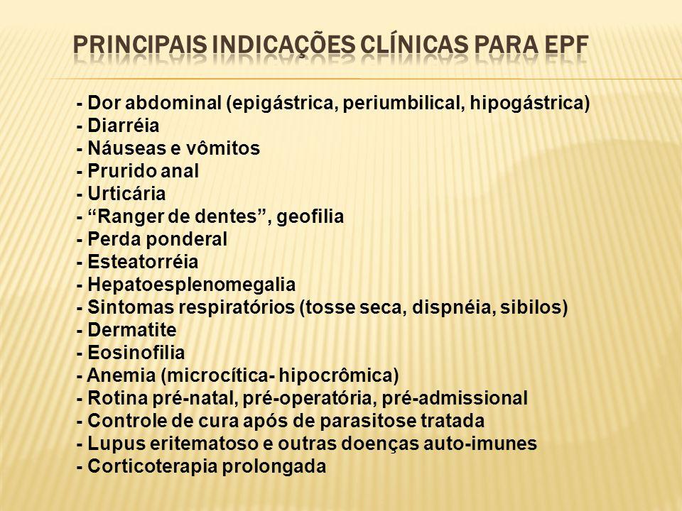 PRINCIPAIS INDICAÇÕES CLÍNICAS PARA EPF