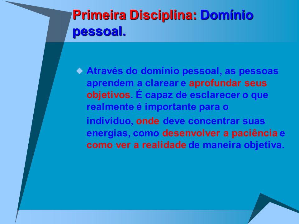 Primeira Disciplina: Domínio pessoal.