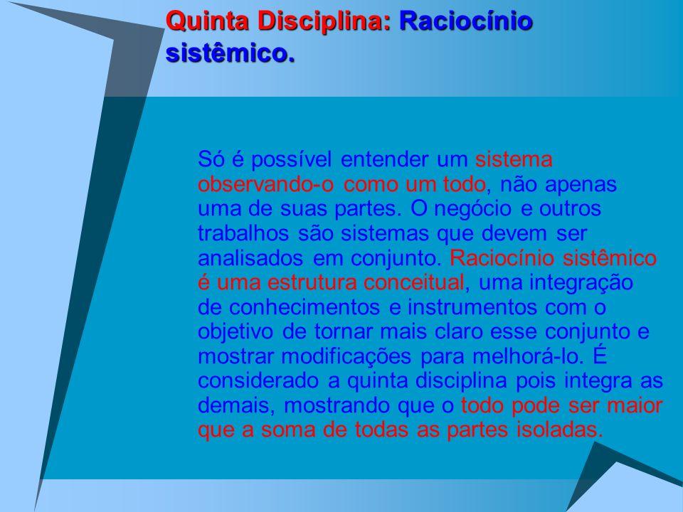 Quinta Disciplina: Raciocínio sistêmico.