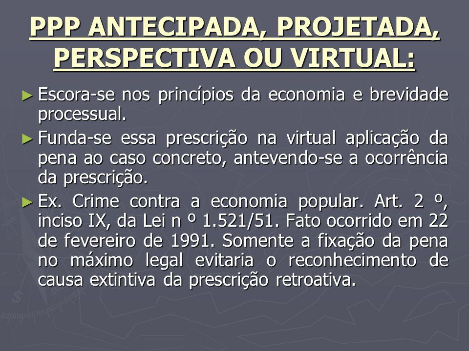 PPP ANTECIPADA, PROJETADA, PERSPECTIVA OU VIRTUAL: