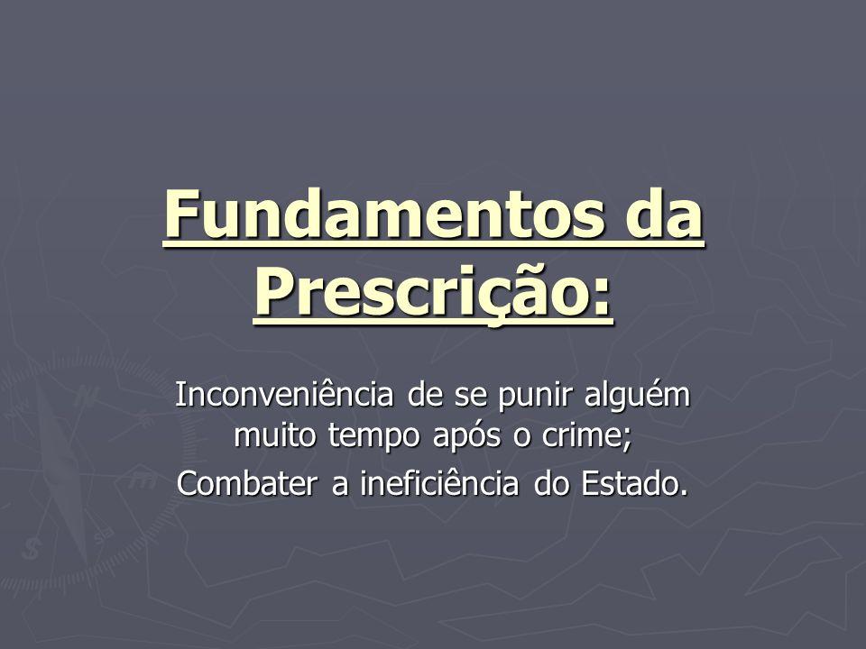Fundamentos da Prescrição: