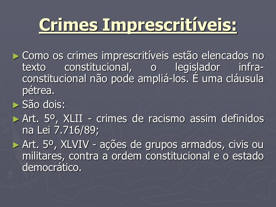 Crimes Imprescritíveis: