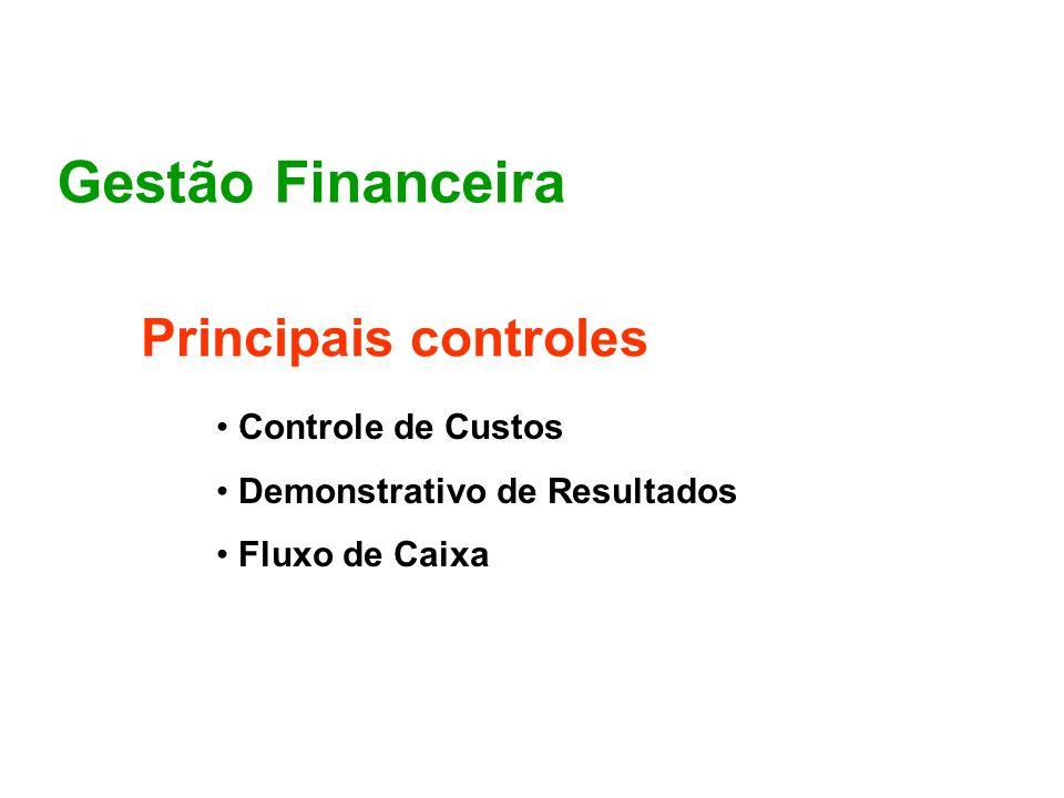 Gestão Financeira Principais controles Controle de Custos