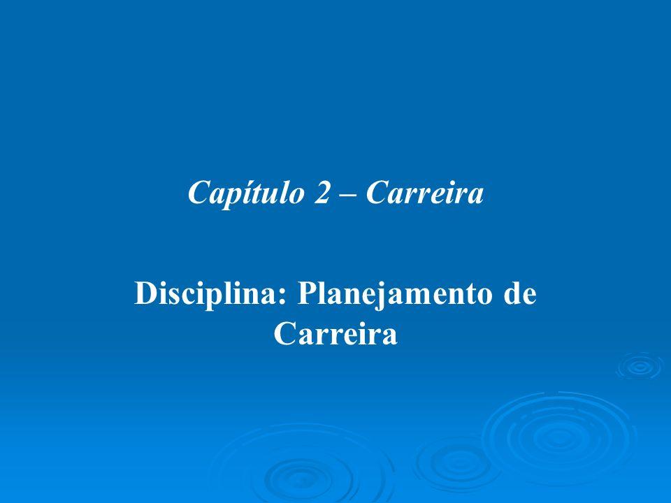 Disciplina: Planejamento de Carreira