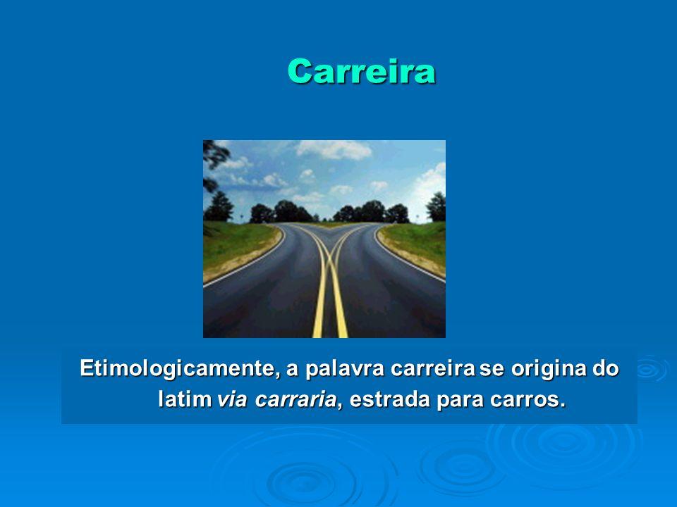 Carreira Etimologicamente, a palavra carreira se origina do latim via carraria, estrada para carros.
