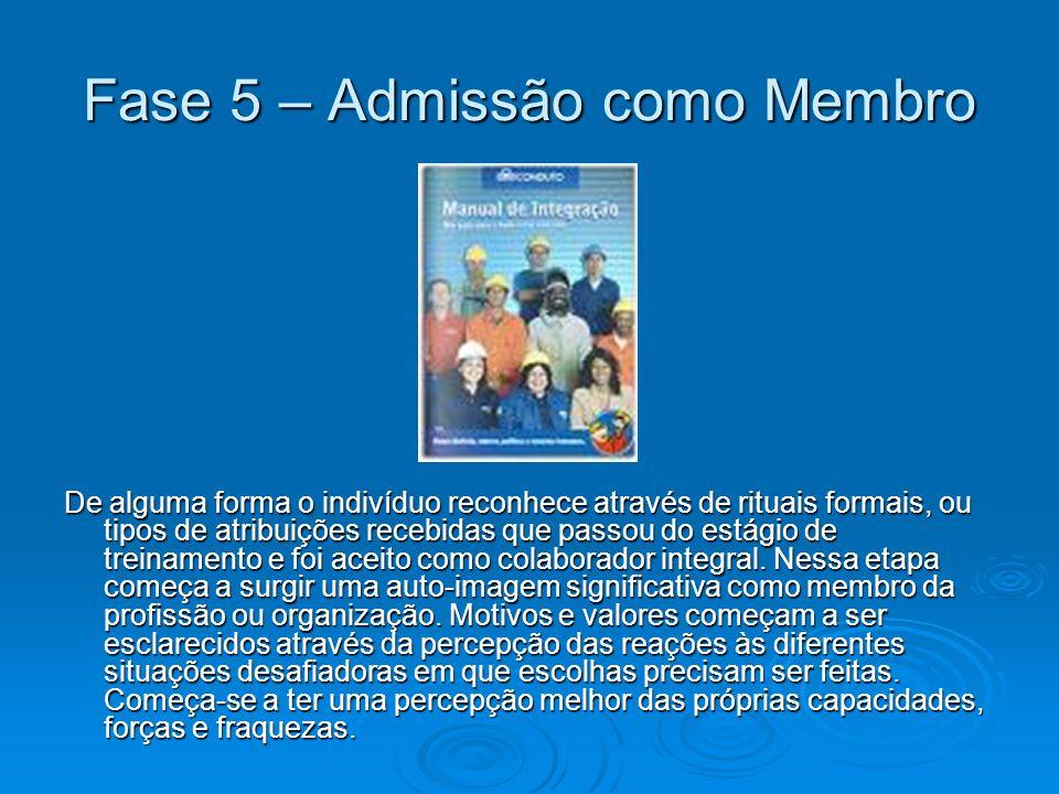 Fase 5 – Admissão como Membro