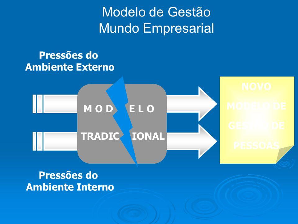 Modelo de Gestão Mundo Empresarial Pressões do Ambiente Externo