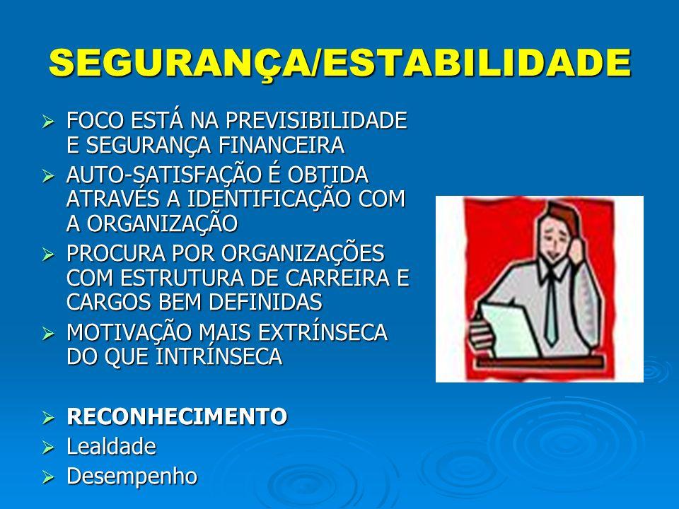 SEGURANÇA/ESTABILIDADE