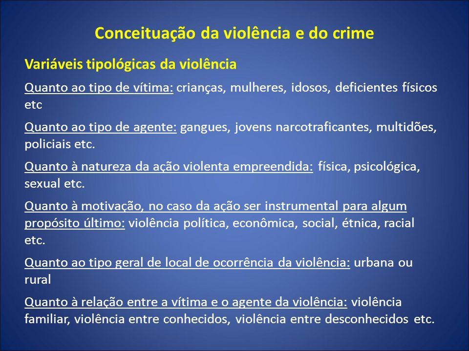 Conceituação da violência e do crime