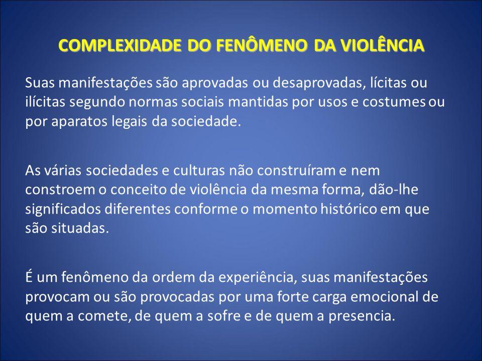 COMPLEXIDADE DO FENÔMENO DA VIOLÊNCIA