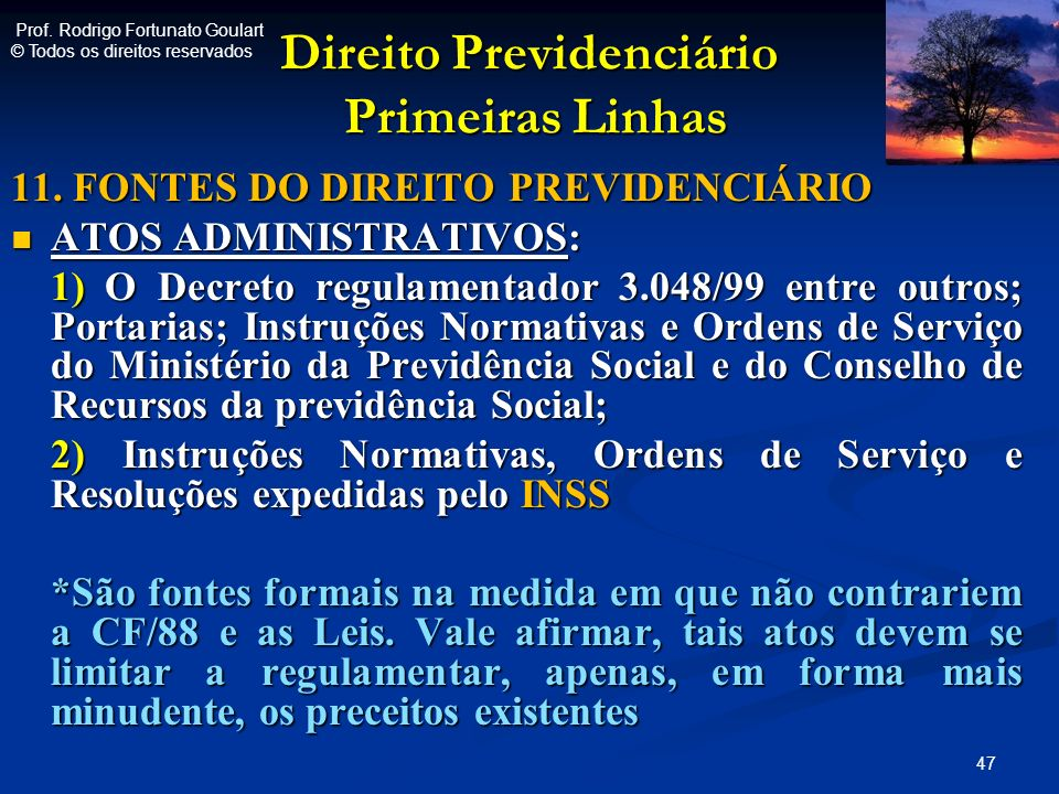 Direito Previdenciário Primeiras Linhas
